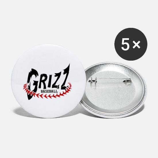 Play Buttons - Official GJ Grizz - Small Buttons white
