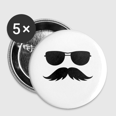sunglasses and mustache - Small Buttons