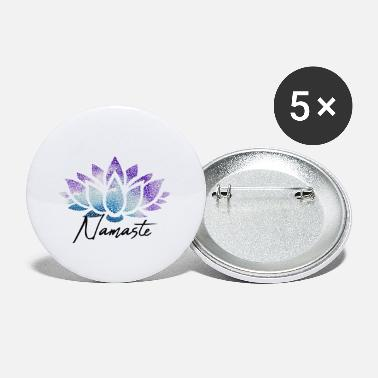 Lotus Namaste lotus flower colorful - Small Buttons