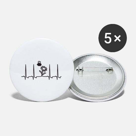 Women Buttons - bee pulse - Small Buttons white