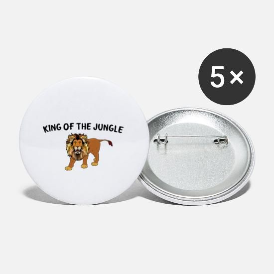 Gift Idea Buttons - King of the jungle - Small Buttons white