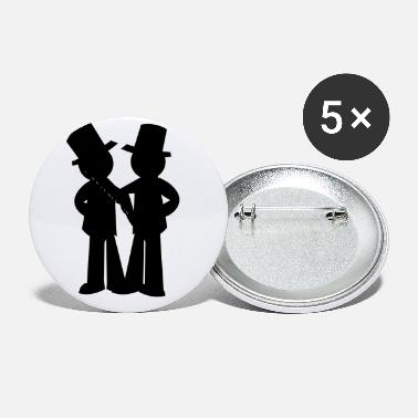 Wedding two grooms gay wedding - Small Buttons