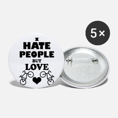 Mountain Bike Hate people but love bikes - Small Buttons