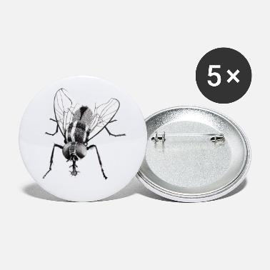Fly Black fly insect - Small Buttons