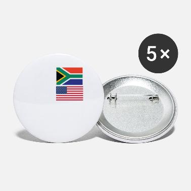 South Africa 50% South African 50% American 100% Awesome Flag - Small Buttons