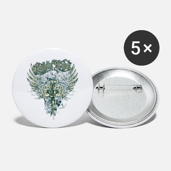 Wing Buttons - royalty - Small Buttons white