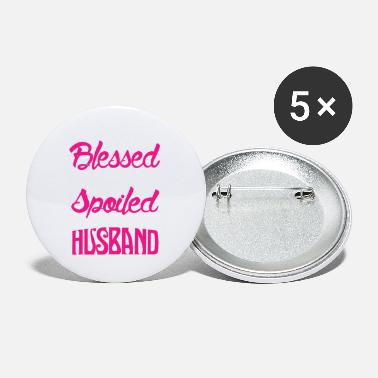 Blessed By God Spoiled By My Husband TShir - Small Buttons