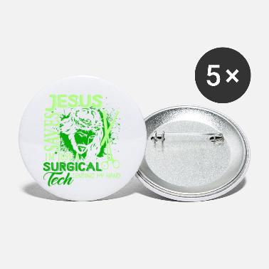 Surgical Tech Jesus I'm Just A Surgical Tech Tee Shirts - Small Buttons