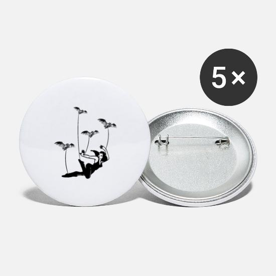Graphic Art Buttons - Taken by Bats - Small Buttons white