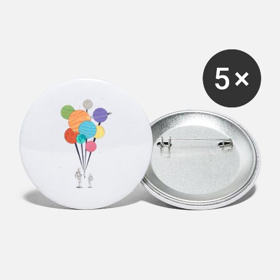 Art Buttons - Spaceman - Small Buttons white