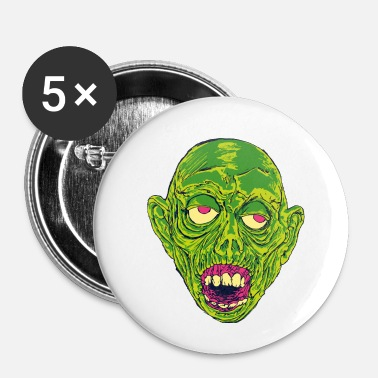 Slimy Graveyard Ghoul Slime Green - Small Buttons