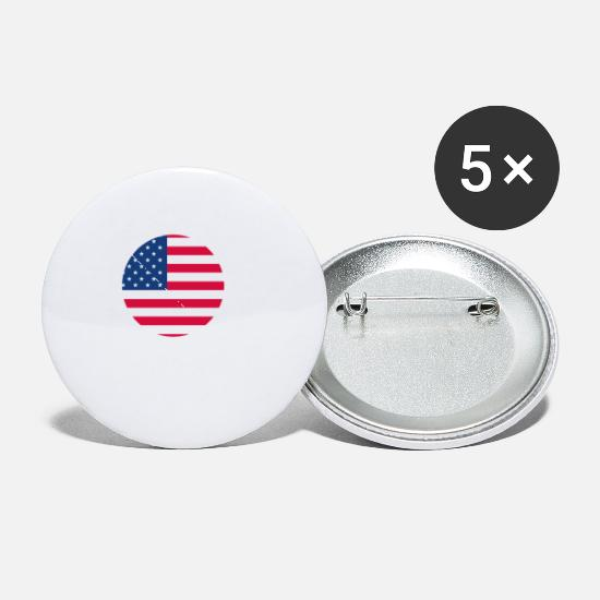 Usa Buttons - SAN DIEGO - Small Buttons white