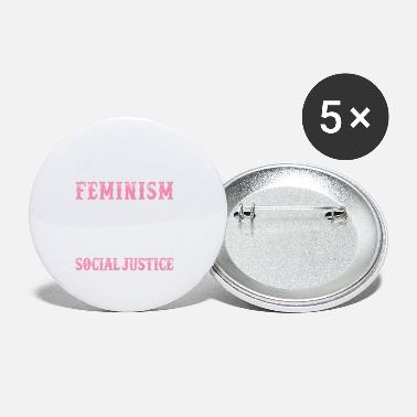 Social Justice Feminism Caffeine & Social Justice - Small Buttons