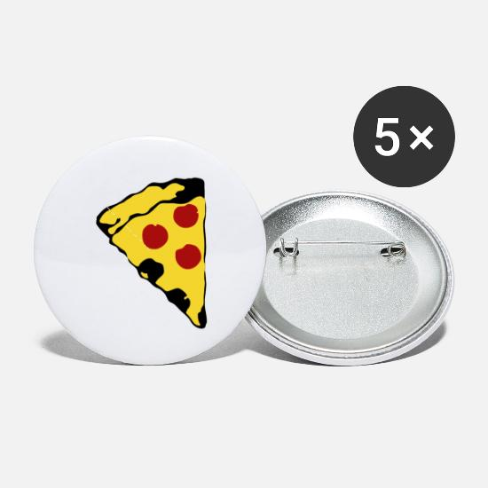 Love Buttons - PIZZA LOVE - Small Buttons white