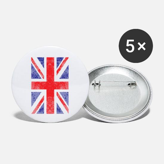 Union Buttons - Union Jack Flag United Kingdom National Vintage - Small Buttons white