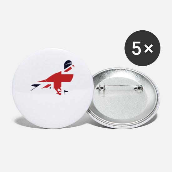 Union Jack Buttons - Union Jack Pigeon Great Britain National Flag - Small Buttons white