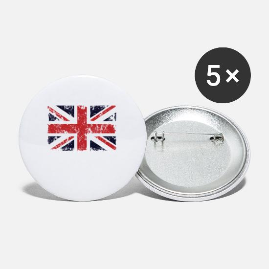 Great Buttons - England Flag Union Jack Great Britain National - Small Buttons white