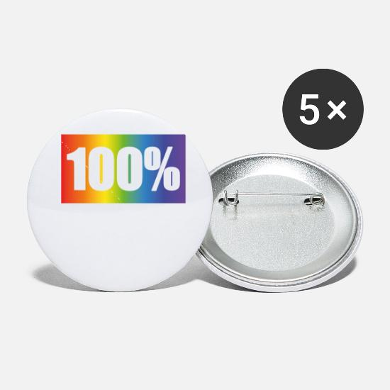 Gay Buttons - 100% Gay - Small Buttons white
