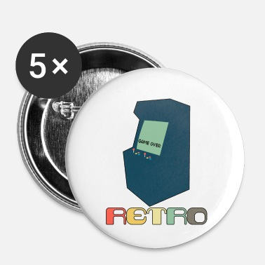 Gaming Retro Arcade Style Gaming - Buttons small 1'' (5-pack)