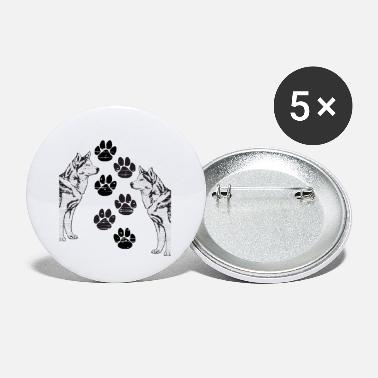 Foot Print Dog Partners with foot prints - Small Buttons