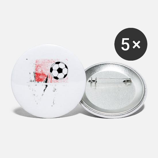 College Buttons - Love Soccer - Small Buttons white