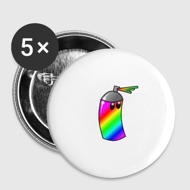 Spray Can Rainbow - Small Buttons