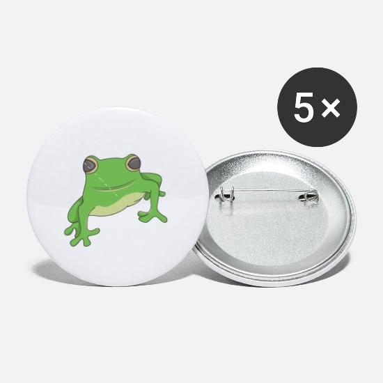 Frog Prince Buttons - Frog - Small Buttons white