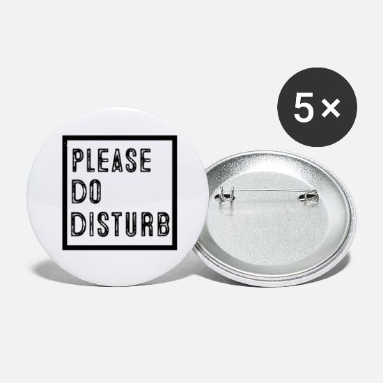 Disturbing Buttons - Please do disturb - Small Buttons white