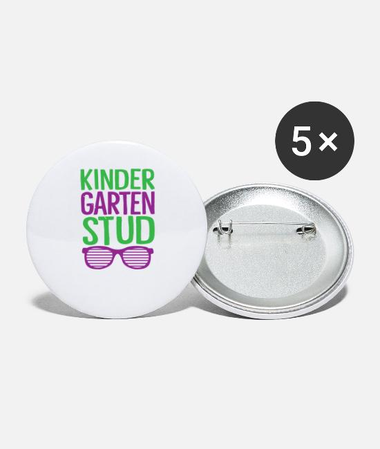 Apple Buttons & Pins - Kindergarten Stud Boys First Day of School Back to School Shirt - Small Buttons white