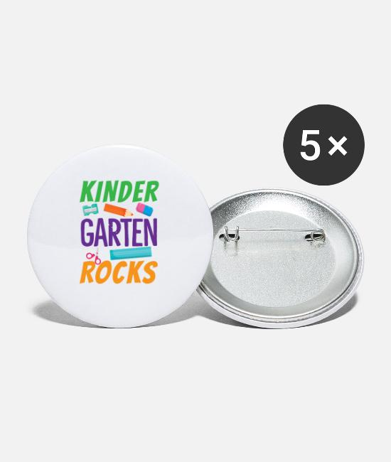 Pre-k Rocks Buttons & Pins - Kindergarten Rock 1st Day of School Funny Back to School Shirt - Small Buttons white