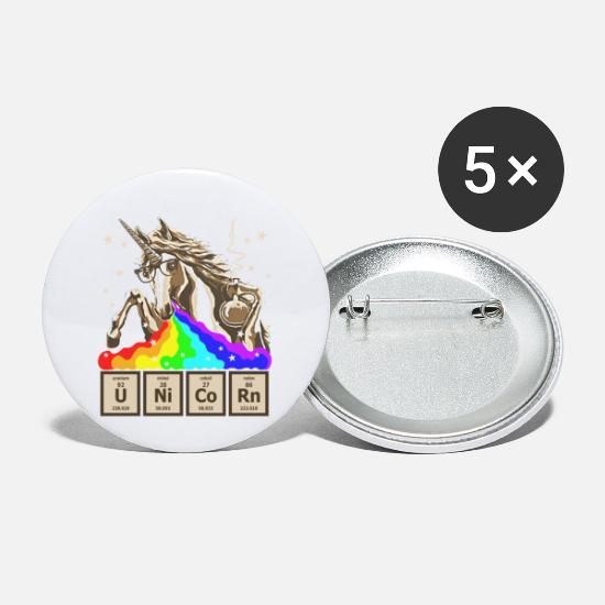 Chemical Buttons - UNICORN CHEMICAL ELEMENT - Small Buttons white