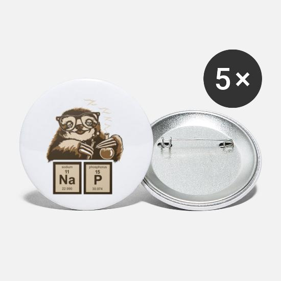 Element Buttons - SLOTH NAP CHEMICAL ELEMENT - Small Buttons white