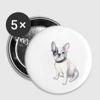 8603663542e Frenchie French Bulldog monocle Dogs In Clothes - Small Buttons