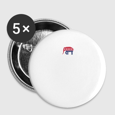 Right Wing Republican Husband Right Wing Funny Political Joke Liberal Left Wing - Small Buttons