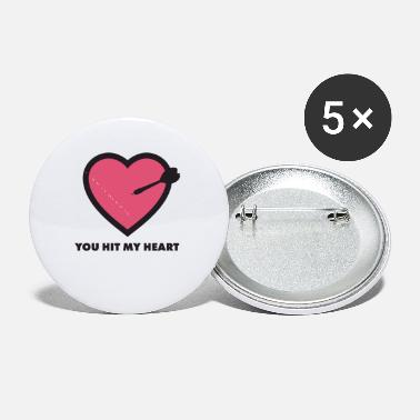 Free Hit You Hit My Heart - Small Buttons