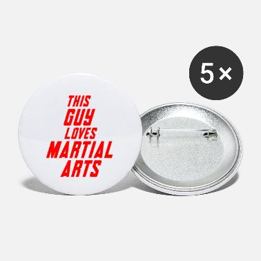 This guy loves martial arts - Small Buttons