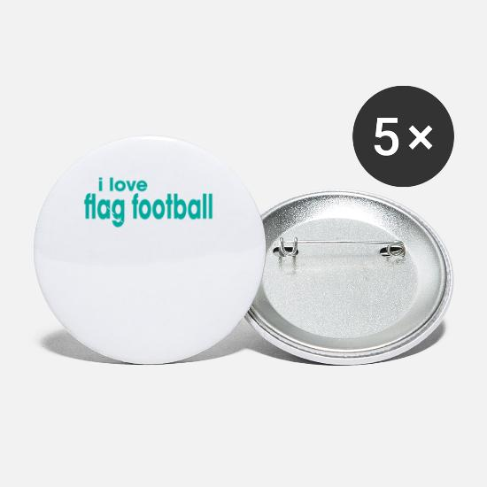 Football Buttons - I Love Flag Football - Small Buttons white