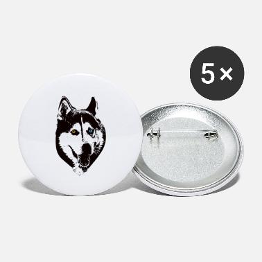 Huskey Siberian Huskey Face Design - A Huskey Christmas Gift - Small Buttons