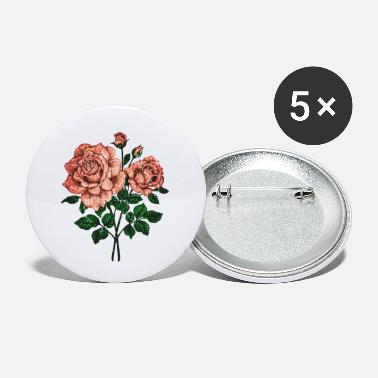Grungy Grungy Pinky roses - Small Buttons