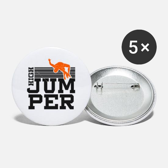Jump Buttons - High jumper high jump pole vault gift - Small Buttons white
