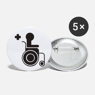 Sit sitting in a wheelchair - Small Buttons