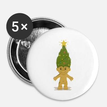 Christmas Tree Troll - Small Buttons