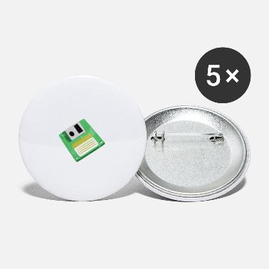 Nostalgie Diskette Floppy Nostalgy Design Gift Idea - Small Buttons