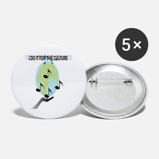 Sheet Metal Buttons - I Do It For The Culture - Small Buttons white
