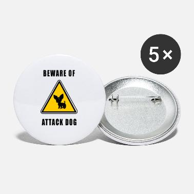 Attack Dog beware of attack dog - Small Buttons