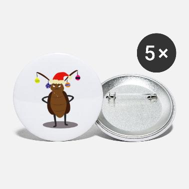 Funny Christmas Funny Christmas cockroach Shirt | tshirt Gift Idea - Small Buttons