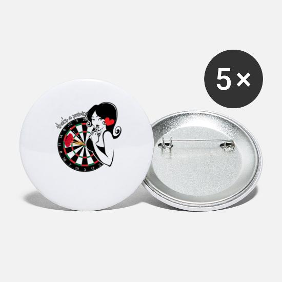 Sexy Buttons - Funny Dart Pinup Team Tournament Darter Gift - Small Buttons white