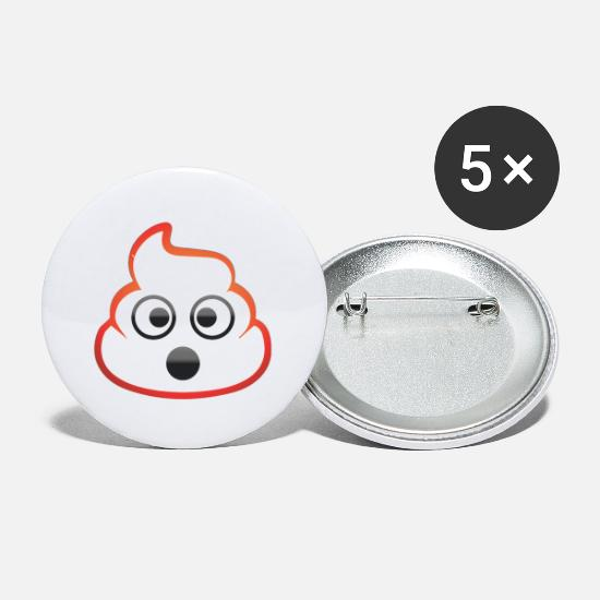 Gift Idea Buttons - Smilie like thumb high shit pileSmilie Emo - Small Buttons white