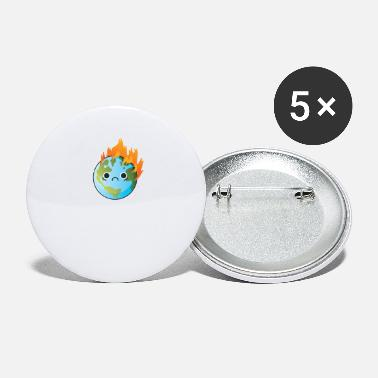 SAVE ME Sad Earth for Earth day Trash Tag - Small Buttons