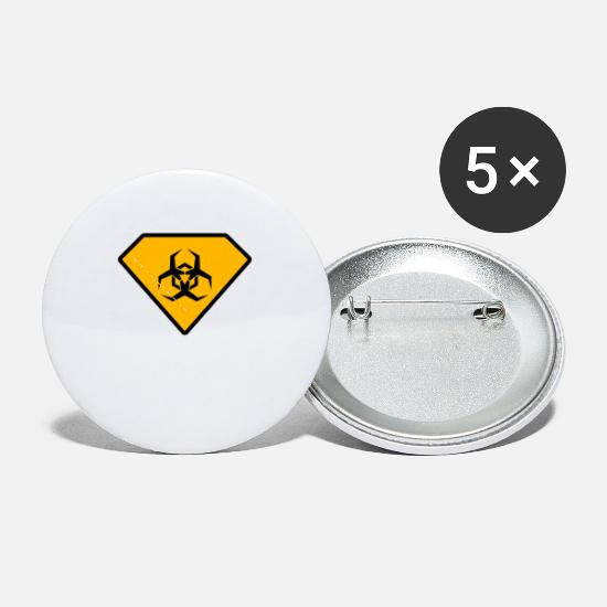 Animal Buttons - Super Biohazard - Small Buttons white